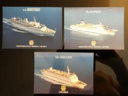 MSC Cruise Boato Lot De 3 Carte Postale - Bateaux