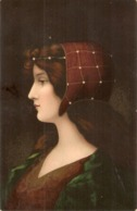 """Pretty Lady With Fantasy Hat""  Lovely Vintage German Postcar - Femmes"