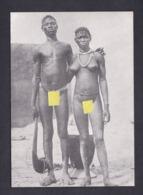 CPSM Serie Nus Exotiques Couple Bobo Bobos Burkina Faso( Nu Ethnique Femme Homme Nude  TL 500ex Imp. H.L Chalons ) - Desnudos étnicos