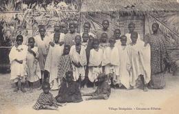 Village Sénégalais - Garçons & Filles - 1910           (A-118-190316) - Sénégal