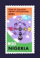 NIGERIA 2001 - DIALOGUE AMONG CIVILIZATIONS ENTRE LES CIVILISATIONS - JOINT ISSUE - RARE MNH - Emissions Communes