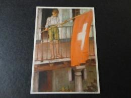 CARTE POSTALE FETE NATIONALE SUISSE 1931 - Marcophilie