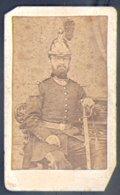 PHOTOGRAPHIE CDV - EPOQUE NAPOLEON III - PHOTOGRAPHE : A.D. BRAUN à DORNACH - Guerre, Militaire