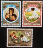 DUBAÏ YT 116A, 116B, PA87 . UNICEF, 25th Anniversary - Dubai