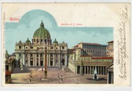 ROMA    BASILICA   DI  S.  PIETRO   1901     (VIAGGIATA) - San Pietro