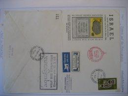 Israel- Flugpost Israel Auf Der Aquisgrana In Aachen Mit Mi. 316 (Brief Ganz Geöffnet) - Aéreo