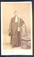 PHOTOGRAPHIE CDV - EPOQUE NAPOLEON III - AVOCAT - JUGE - JUSTICE - 1869 - PHOTOGRAPHE : DAMEZ à PARIS - Métiers