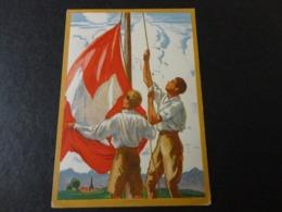 CARTE POSTALE POUR LA FETE NATIONALE SUISSE 1929 PAR AVION - Marcophilie