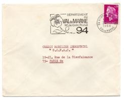 VAL De MARNE - Dépt N° 94 VITRY Sur SEINE Ppal 1968 = FLAMME Codée = SECAP  ' N° De CODE POSTAL / PENSEZ-Y ' - Postleitzahl