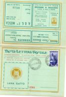2 BUSTA LETTERA POSTALE - IX MOSTRA FILATELICA BIELLESE 1954 - Non Viaggiate - Unclassified