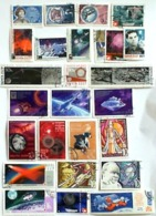 SPACE USSR Many Diferent Used Stamps - Unused Stamps