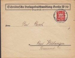 Deutsches Reich SCHREITERSCHE VERLAGSBUCHHANDLUNG Pragerstrasse 14, BERLIN Wimersdorf 1926 Cover Brief - Deutschland