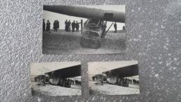 3 PHOTOS ANCIENNES - VER SUR MER 14 CALVADOS - AMERICA AVION AVIATION - NORMANDIE - Lugares