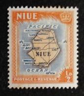NIEU CARTE Neuf Très Légère Trace Charnière - Niue
