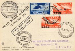 BIELLA MILANO - 1° VOLO 1947 - VIAGGIATA - Biella