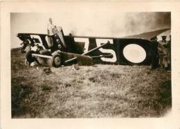 AVION ACCIDENT CRASCH  PHOTO ORIGINALE FORMAT 8.50 X 6 CM - Aviation