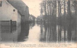 BELGIQUE - Inondations - Catastrophe Du Raz De Marée Du 12 Mars 1906 - Rue De L'hôpital, Vue Vers L'église De Calloo - Beveren-Waas