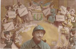 Humoristique : Le Suffrage Féminin ( Colorisé ) - War 1914-18