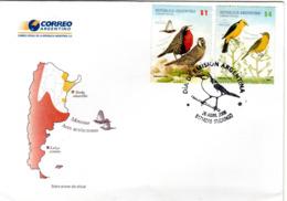 ARGENTINA  FDC, Birds   /  ARGENTINE, Lettre De Première Jour,  Oiseaux , 2008 - Sperlingsvögel & Singvögel