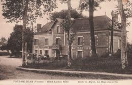 86 Port De Piles Hotel Lucien Botté Hotel De La Gare Café Restaurant Cpa Animée Vieille Voiture Auto - France