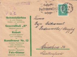 Deutsches Reich E. ARNOLD SCHWERDTFEGER Keram.- Chem. Fabrik DRESDEN-Neustadt 1930 Cover Brief Purple VERBANDSLIEFERANT - Deutschland