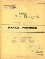PAIMPOL.GUINGAMP.SAINT BRIEUC.TRANSPORTS RAIL-ROUTE.RAPIDE PROVINCE.F.KERFANT. - Verkehr & Transport