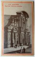 CHROMO..LE HAVRE...AVANT 1900.....REPRODUCTION GRAVURE...LITH.  LAAS....EGLISE NOTRE DAME - Trade Cards