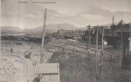 SVIZZERA SWITZERLAND SUISSE - CHIASSO - STAZIONE INTERNAZIONALE - 1927 - TI Tessin