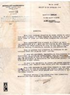 MORELLET-GUERINEAU CHOLET( Maine Et Loire) 1941 VOITURES D'ENFANTS JOUETS - Francia
