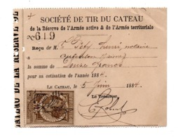 59 NORD LE-CATEAU 1884 Près De CAMBRAI Société De Tir Armée Active Et Armée Territoriale - Historical Documents