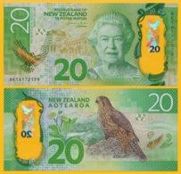 New Zealand 20 Dollars P-193 2016 UNC Polymer Banknote - Nieuw-Zeeland