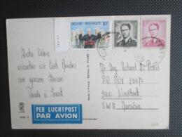 2068 - Kardinaal Cardijn - Zegel Met Drukdatum Op PK Verstuurd Per Luchtpost Naar Windhoek Namibia - Lettres & Documents