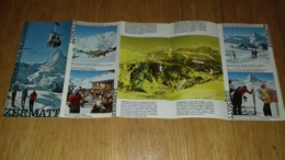 Dépliant Touristique Sur Zermatt   Suisse Switzerland - Tourism Brochures
