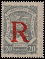 ~~~ Colombia Colombie 1923 - SCADTA - R Registrée - Mi. 40 ** MNH - Depart 1 Euro ~~~ - Colombia