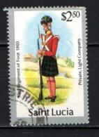 ST. LUCIA - 1986 - UNIFORME MILITARE - USATO - St.Lucia (1979-...)
