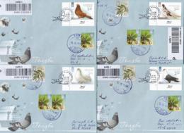 UKRAINE 2014 FDC Cover Fauna  Bird Pigeons Registered Letters - Ukraine