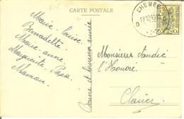 CP Avec Nr 815 De CHENEE - Cartas