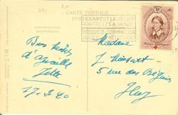 CP Avec Nr 497 Pour HUY Sur Carte Avec SERIN CINI . - Belgium