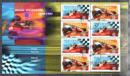 Canada 1997 - Formula One - Sc # 1647-48 Sheet- Mi. M/s 22 - Used Gestempelt - Blocs-feuillets