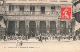 33 Bordeaux Café Restaurant De Bordeaux Cpa Carte Animée - Bordeaux