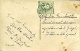 CP Avec Nr 167 Timbrée D'ALOST / AALST 1920 - 1919-1920  Cascos De Trinchera
