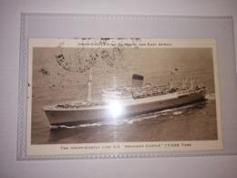 England Old Used Postcard - Passenger Ships - The Union-Castle Line SS Braemar Castle - Bateaux