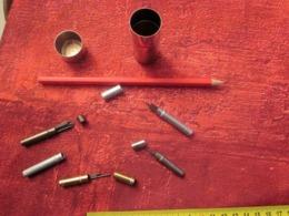 VINTAGE 5 BOITES  DE MINES ÉTUIS EN ACIER & ALU POUR PAPIER + CRAYON DE PAPIER HB  Bureau(objets Liés) - Other Collections