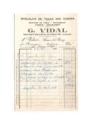 15 CANTAL MOURET CHALINARGUES Ou NEUSSARGUES-EN-PINATELLE G.VIDAL - Historical Documents