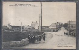 Carte Postale 44. Savenay  Carrefour De La Vallée  Route De Pontchateau  Très Beau Plan - Savenay