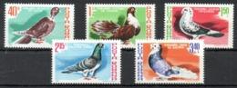 ROUMANIE. 5 Timbres De La Série N°3326-31 De 1981. Pigeons. - Pigeons & Columbiformes