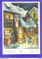 Carte Postale Anges Noël Calendrier De L'avant   Très Beau Plan - Anges