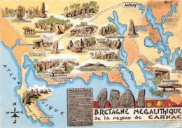 BRETAGNE MEGALITIQUE  REGION DE CARNAC - Dolmen & Menhirs