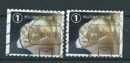 België OBP Nr. 4710 + 4710a - Gestempeld / Oblitérés - Rouwzegels - Usados