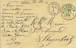 CP Avec Relais De STROMBEEK-BEVER 1912 . - Marcofilia